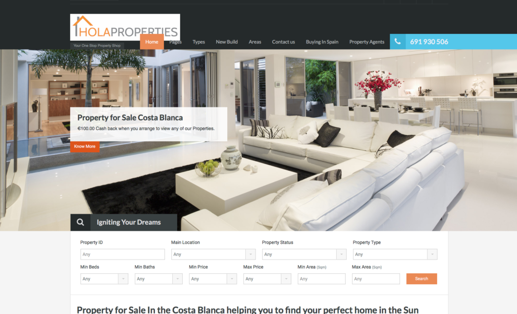 Property sales calpe