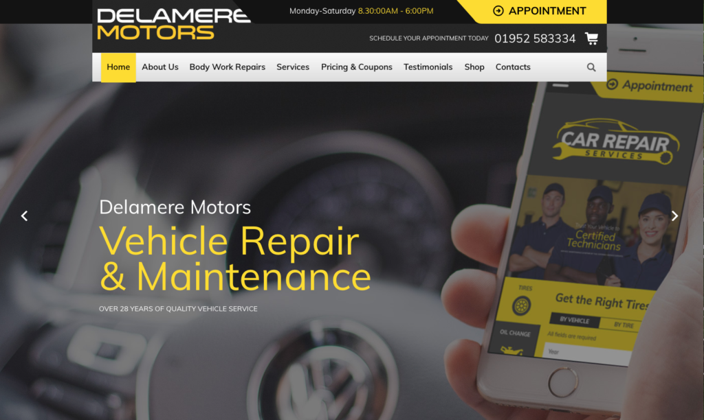 Vehicle repair websites