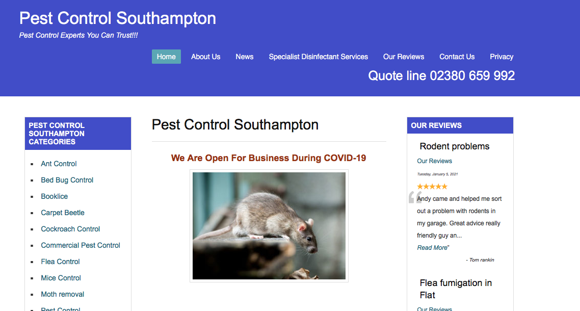 pest control southampton