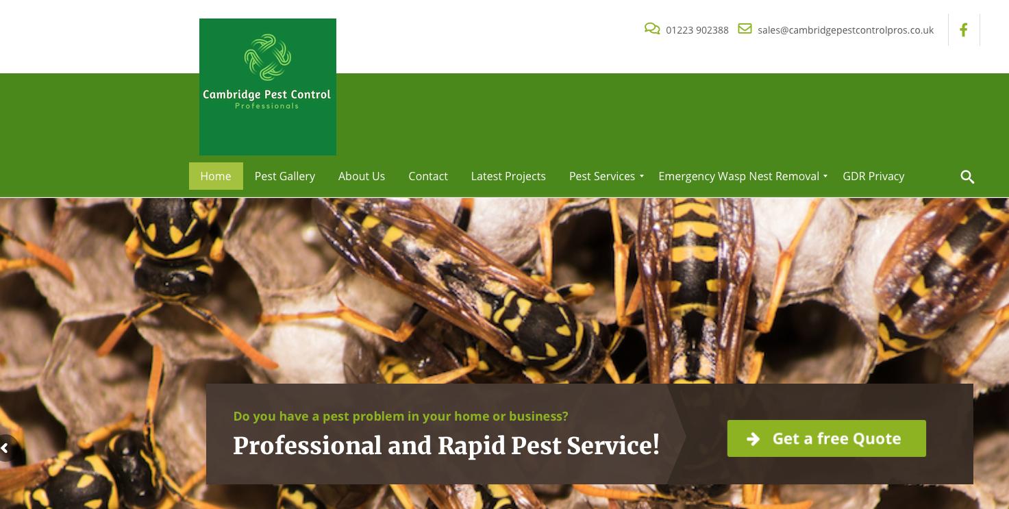 Pest control Cambridgeshire